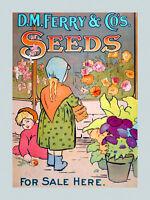 Children Vase Of Flowers Garden Seeds American Usa Poster Repro Free Sh