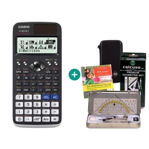 Schutztasche GeometrieSet Lern-CD Casio FX 991 DE X Taschenrechner