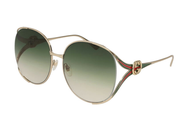 04854801a7a Gucci Green Gradient Sunglasses Gg0225s 003 63 for sale online