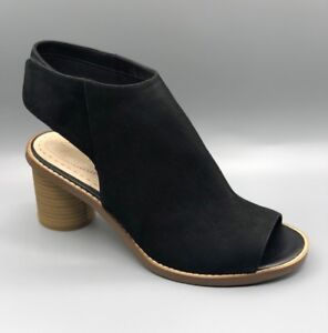 pelle donna in Toe Clarks nera Sandali D Open Uk New 4 glacier Charm SIxXYwI