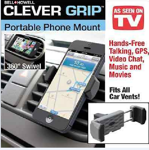 Bell+Howell Clever Dash Automobile Portable Phone and GPS Mount Holder