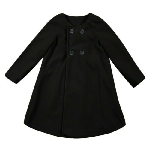 Autumn Winter Girls Kids Baby Outwear Cloak Button Jacket Warm Coat Clothes