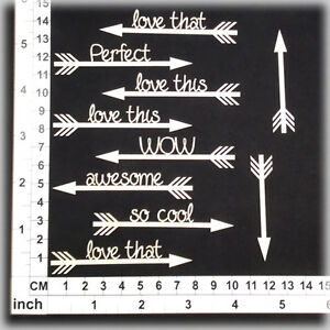 Chipboard Embellishments for Scrapbooking Cardmaking - Assorted Words 186095w