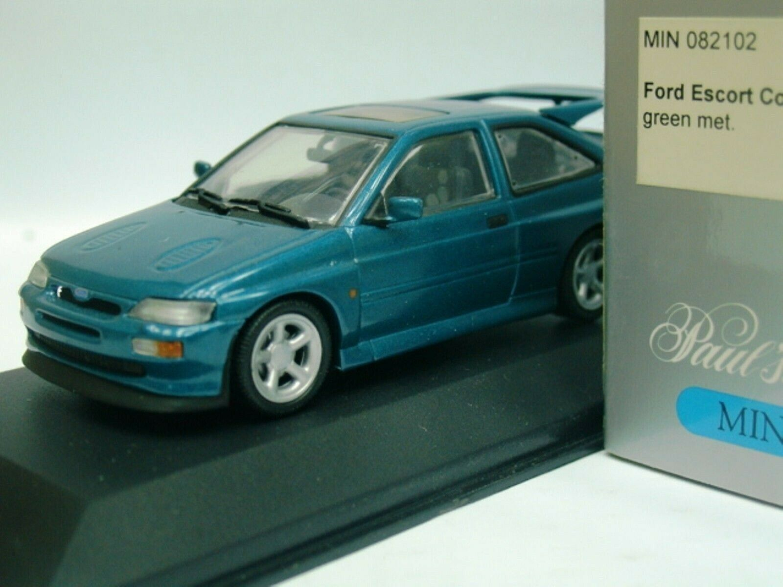 Wow extrêmement rare FORD ESCORT RS COSWORTH TRB 225HP 1992 vert 1 43 Minichamps