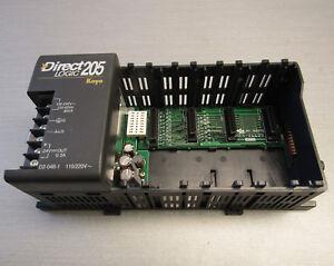 Direct-Logic-205-Koyo-PLC-D2-04B-1-backpanel-rack-4-slot-base