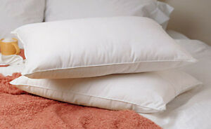 New King Size Feather Goose Down Bed Pillow Set of 2 Pillows for Bedroom Bedding