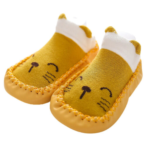 1 Pair Baby Slippers Socks Indoor Boy Girls Toddler Winter Warm Shoes Anti-slip