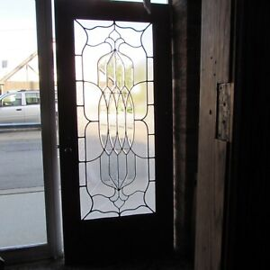 Details About Combination Bevel Glue Chip Clear Glass Door 36 X 80 Architectural Salvage