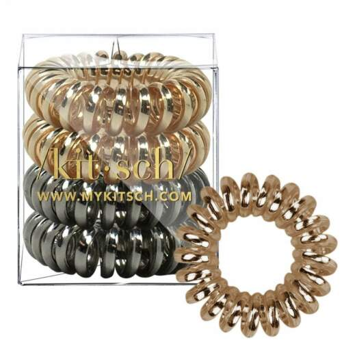 Metallic 4 Pack Hair Coils Kitsch Direct