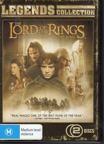 1 of 1 - LORD OF THE RINGS THE FELLOWSHIP OF THE RING - DVD R4 2-DISC SET LIKE NEW