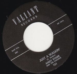 """ANDY STARR - Just A Walkin'  7"""" 45"""