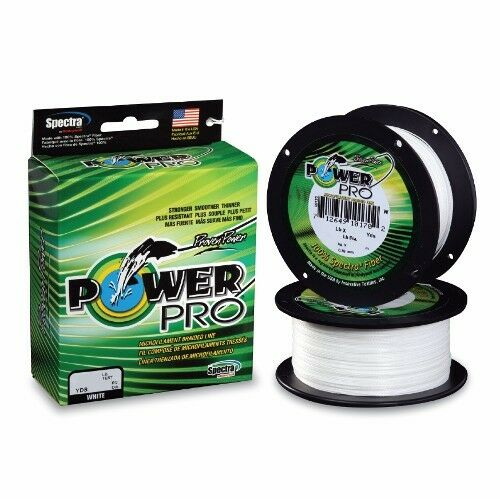 energia Pro Spectra Braid Fishing Line 150 lb Test 500 Yards bianca 150lb
