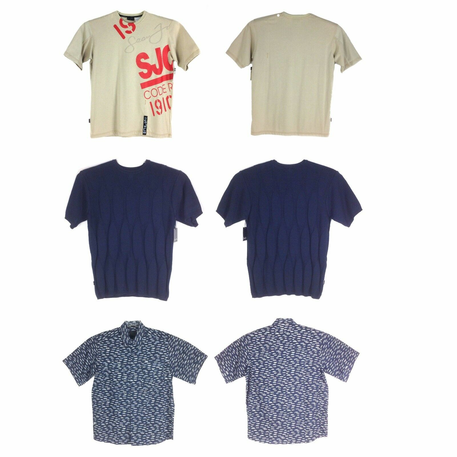 Sean John SHORT SLEEVES MEN'S TOPS, ASSORTED STYLES COLORS, LIMITED SIZES