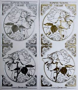 FLOWER-FAIRIES-Embossed-Transparent-Clear-Peel-Off-Stickers-Corners-Rose
