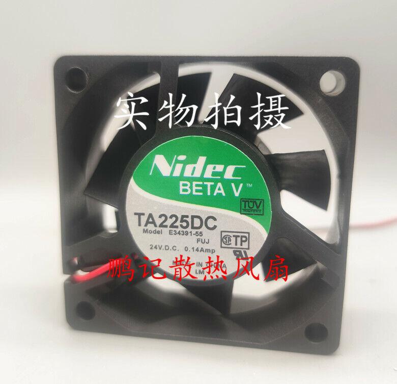1 pcs Nidec TA225DC E34391-55 DC24V 0.14A 2-wire 6cm 6025 inverter cooling fan