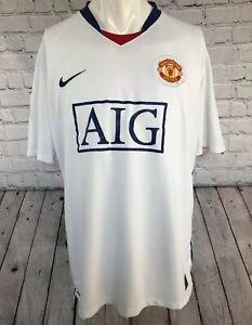 size 40 cf4fd a4f5d Details about MANCHESTER UNITED FOOTBALL SHIRT NIKE AWAY/ THIRD KIT SIZE  XL. AIG. MUFC MANU