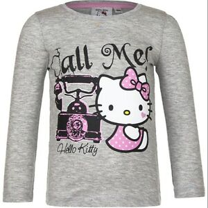 TEE-SHIRT-manches-longues-HELLO-KITTY-3-ans-gris-KITTY-Enfant-NEUF