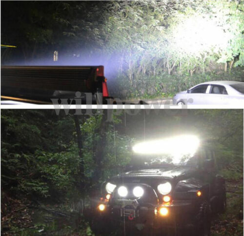 2Pcs 52inch 300W LED Spot Flood Combo Work Light Bar Driving Lamp Truck 4WD Boat