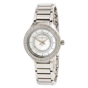 Michael-Kors-Women-039-s-Mini-Kerry-Quartz-Watch-SS-Bracelet-MK3800