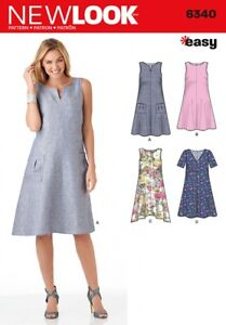 d231529bf53b41 New Look Ladies Easy Sewing Pattern 6340 A Line Summer Dresses ...
