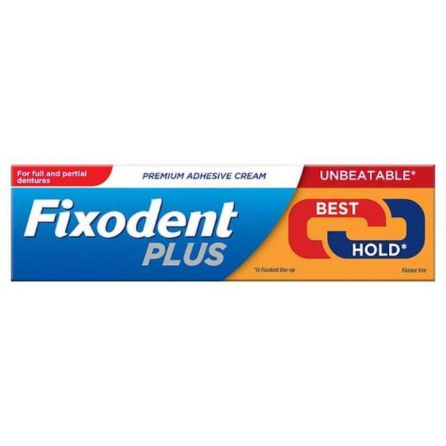Fixodent Plus Dual Power Best Hold 40g Denture Premium Adhesive Cream Strong