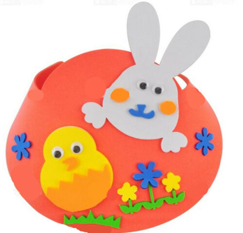 1x Children Kids School Easter bunny Hat Parade Show Polyfoam Craft art DIY Hat