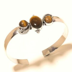 925-Silver-Plated-Free-Shipping-Tiger-Eye-Bangel-Cuff-Gemstone-Jewellery