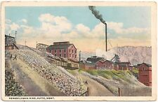 Pennsylvania Mine in Butte MT Postcard