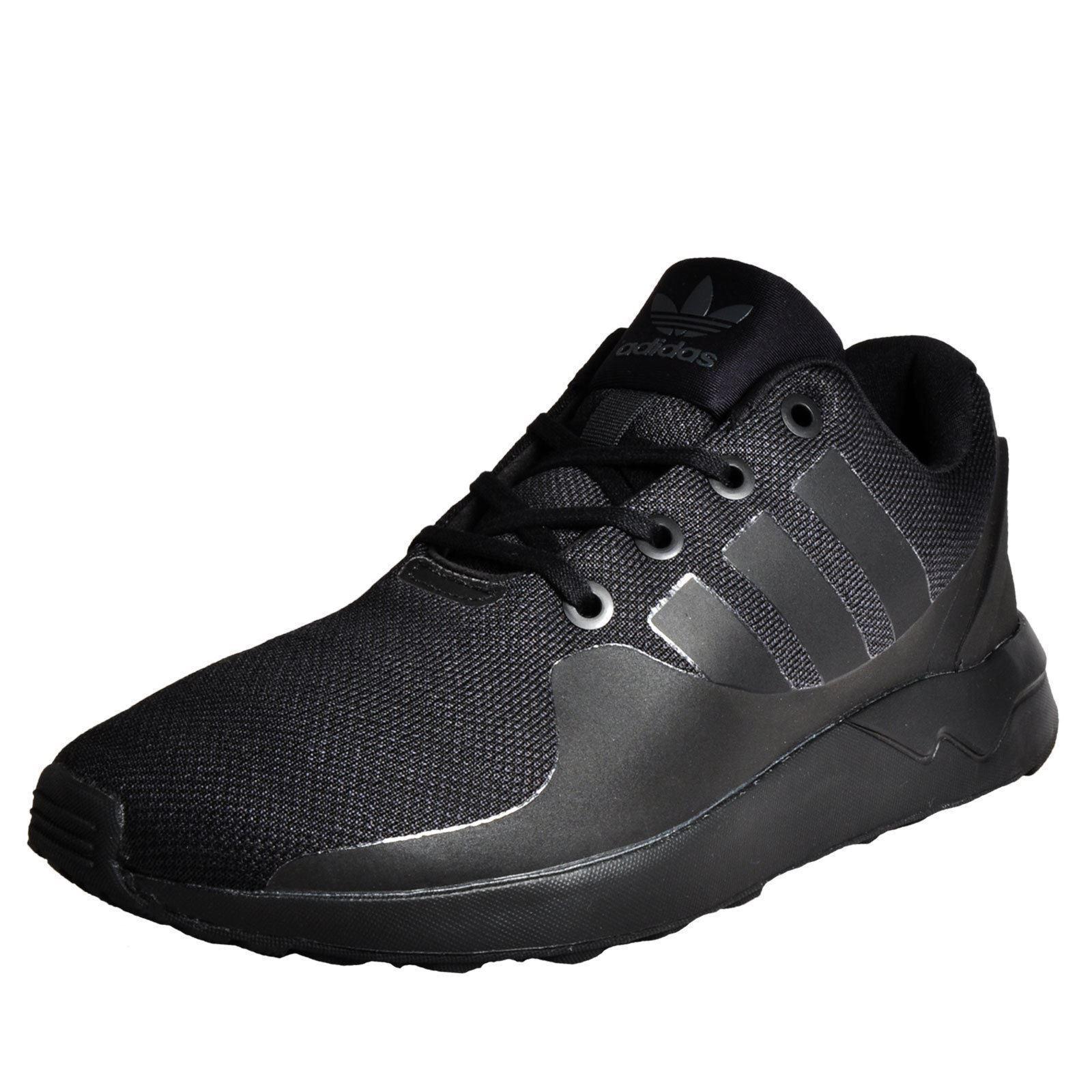 adidas Originals ZX Flux ADV Tech Trainers Mens Black Sneakers Shoes Footwear