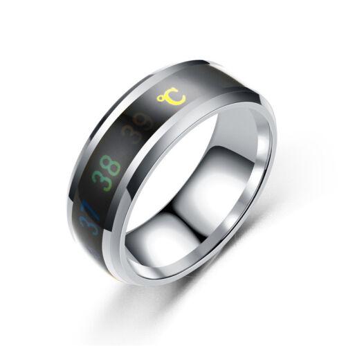 8MM LOVERS Mood Rings Color Change Emotion Sense Intelligent Temperature Ring