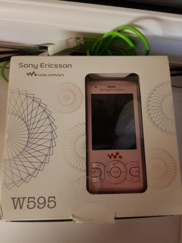 1 of 1 - Sony Ericsson Walkman W595 - Peachy Pink Mobile Phone