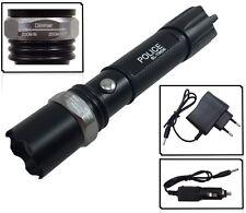 CREE LED Taschenlampe für Polizei / Feuerwehr SUPER HELL inkl. 2 x Power Akku