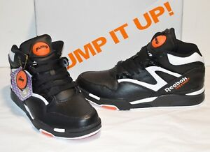 7722eaea1608 New Reebok Omni Lite Pump Dee Brown Black White Varsity Orange 1991 ...