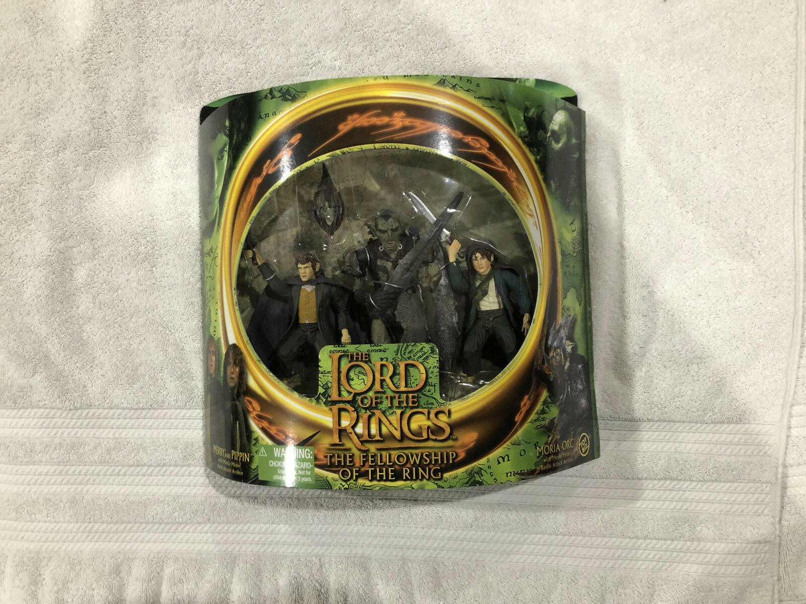 ToyBiz Lord of the Rings Rings Rings LOTR Fellowship of the Ring Merry Pippin Moria Orc C9+ fcbe72