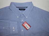 Roundtree & Yorke Trademark Mens L/s Blue Checkered Casual Shirt 2xt