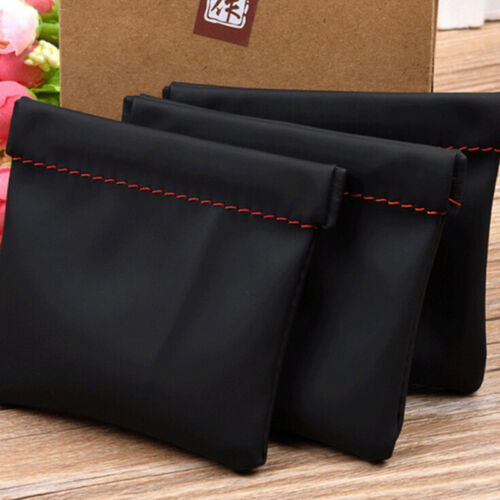 portable earphone case pu leather storage bag headset headphone carrying pouch E