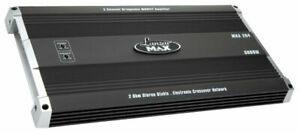 Lanzar-Max-2-Ch-Two-Channel-Stereo-5000w-Bridgeable-Car-Speaker-Amplifier-Amp