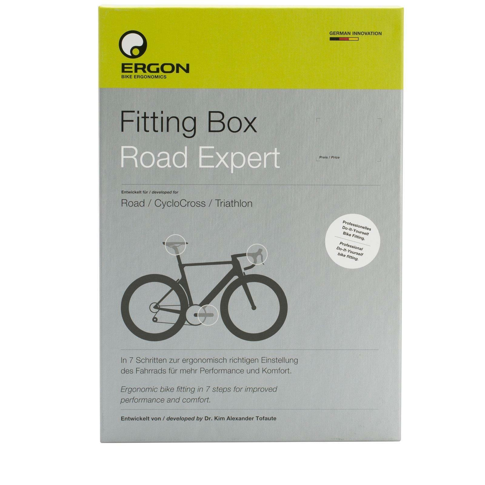 Ergon Fitting Box Road Expert Einstellhilfe Komfort Performance Anpassung Bike