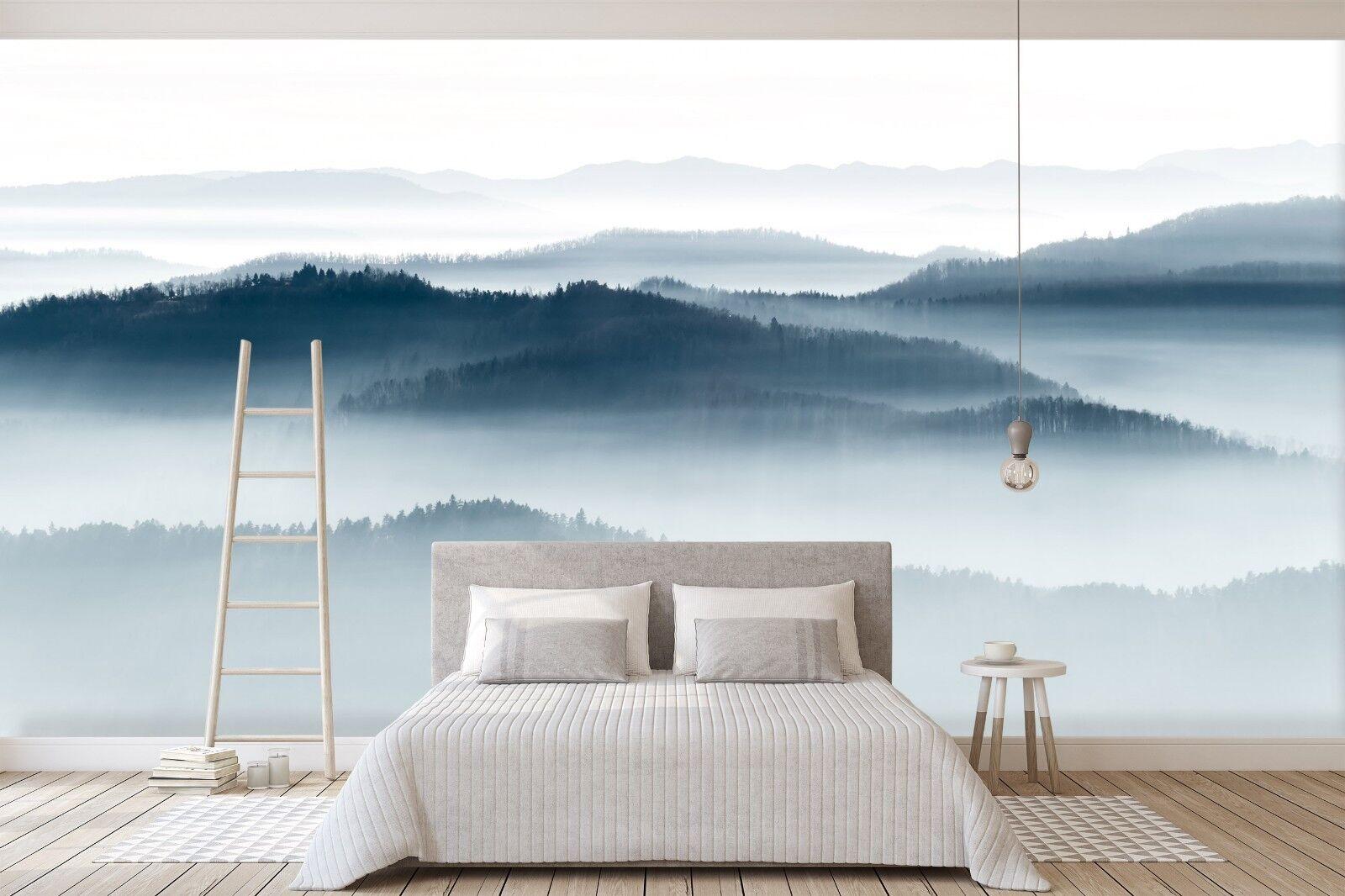 3D Misty Mountain Scenery 52 Wallpaper Murals Wall Print Wallpaper Mural AJ WALL