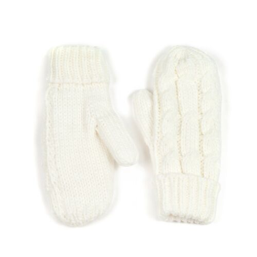 Womens Ladies Knitted Soft Thermal Insulated Warm Winter Mittens Gloves UK Store
