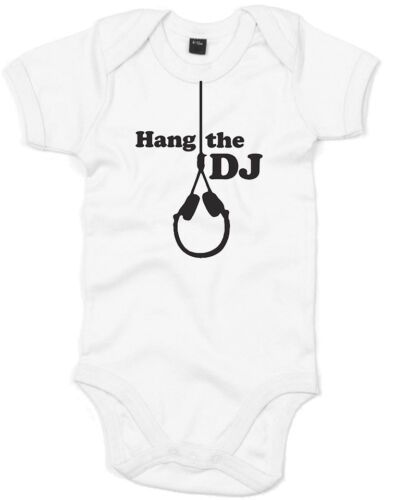 The Smiths inspired Kid/'s Printed Baby Grow Soft Sleep Suit Romper Hang The DJ