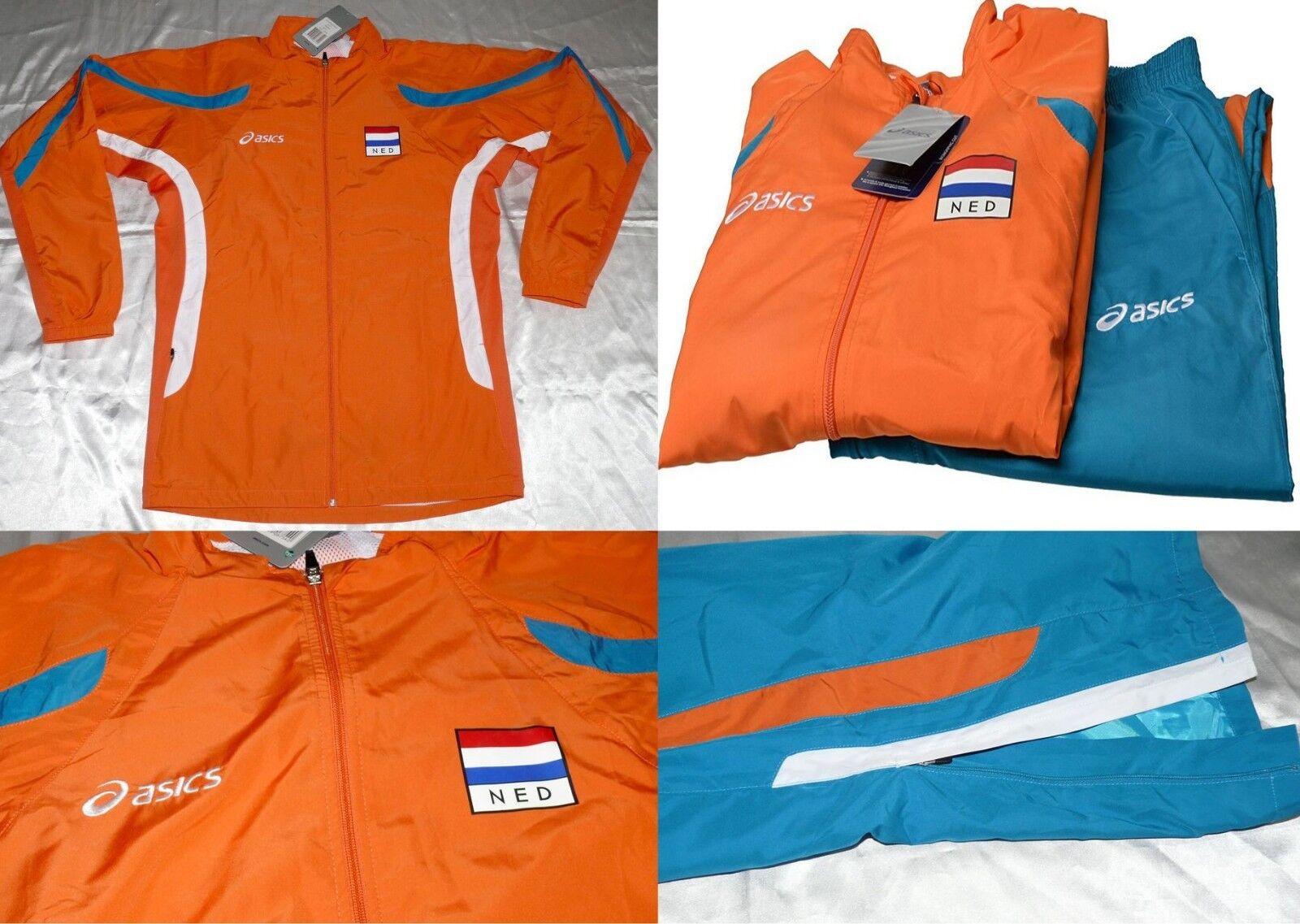 Asics 599406S 0532 Team Warmup Holland Herren Training Fitness Anzug Größe XXL