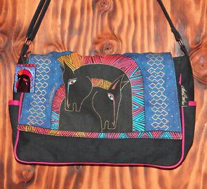 Laurel-Burch-Horse-Print-Messenger-Bag-Sun-N-Sand-Licensed-Beach-Bag