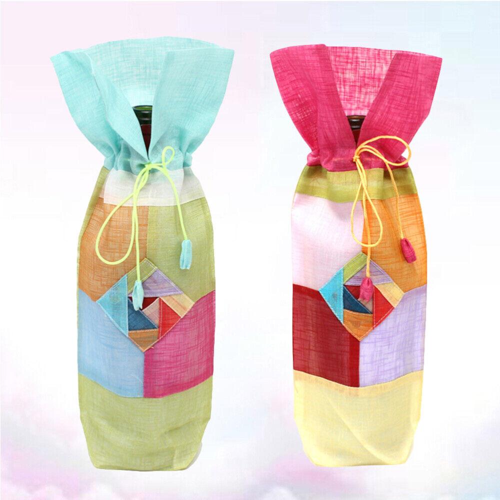 2 un. Botella de vino Cubierta Decorativo Muy Práctico decoración de botella de vino