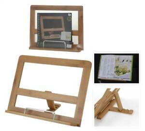Bamboo-Wooden-Wood-Recipe-Cook-Book-Stand-Reading-kitchen-Storage-Stand-Gift-NEW