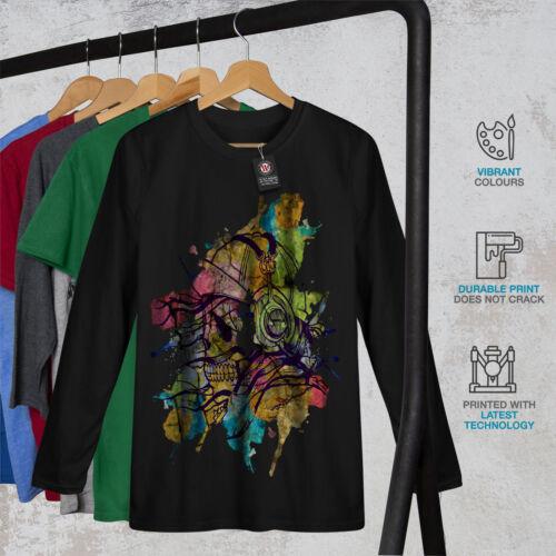 Skull Beat Dance Music Men Long Sleeve T-shirt NEWWellcoda