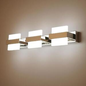 LED Candelabro Da Parete Hall Fixture Specchio Trucco ANTERIORE foto Bagno Luce Cristallo