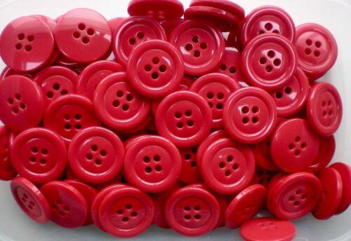 Large 32 mm 50 L Clown Rouge Manteau Veste Cardigan 4 Trous Craft Enfant Boutons W256B