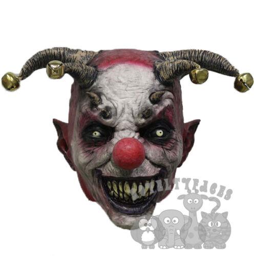 Popular Halloween /'Evil Jester Clown Mask/' Horror Scary Evil Latex Party Mask