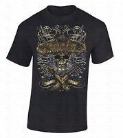 Sombrero Skull T-shirt Day Of Dead Crossed Gun Knife Dia De Los Muertos Shirt